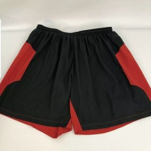 Mens Nike Dri Fit Basketball Lined Gym Shorts Red